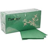Купить салфетка бумажная зеленая 33х33 см 3-сл 250 шт/уп папирус 1/6 в Москве