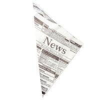 Купить пакет бумажный дхшхв 190х190х270 мм жиростойкий конус для закусок с печатью news papstar 1/1000 в Москве