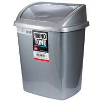 """Купить контейнер мусорный прямоугольный 8л дхшхв 252х200х330 мм с качающейся крышкой пластик темно-серый bora"""" 1/24 в Москве"""