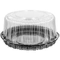 Купить упаковка кондитерская (тортница) н152хd334 мм на 10 кг круглая дно+крышка ппп 1/50 в Москве