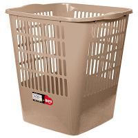 Купить корзина мусорная 16л дхшхв 280х300х320 мм пластик коричневый bora 1/23 в Москве