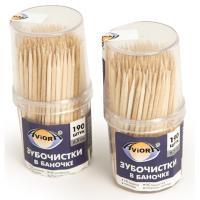 Купить зубочистки н65 мм 190 шт/уп без индивидуальной упаковки в пластиковом стаканчике тр 1/10/500 в Москве