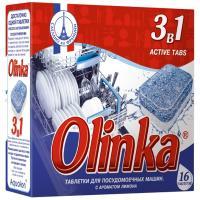 Купить таблетки универсальные 16 шт/уп для посудомоечных машин olinka 3 в 1 аквалон 1/16 в Москве