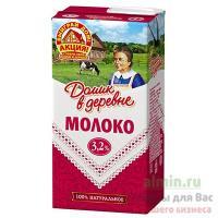 Молоко 3,2% 950г ДОМИК В ДЕРЕВНЕ 1/12
