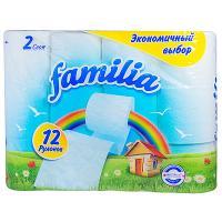 Купить бумага туалетная 2-сл 12 рул/уп familia радуга белая hayat 1/8 в Москве