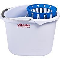 Купить ведро с отжимом 10л овальное супер-моп пластик голубое vileda 1/12 в Москве