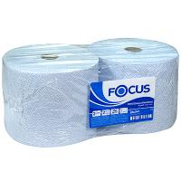 Купить полотенце бумажное 2-сл 350 м в рулоне*2 н240хd225 мм focus jumbo industrial белое hayat 1/1 в Москве