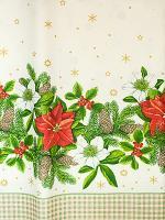 Купить скатерть нетканая дхш 1800х1200 мм рождественская papstar 1/5 в Москве