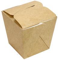 Купить контейнер бумажный china pack 460мл дхшхв 80х66х102 мм крафт 1/35/420 в Москве