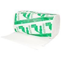 """Купить полотенце бумажное листовое 1-сл 200 лист/уп 210х230 мм v-сложения белое """"almin"""" 1/20 в Москве"""