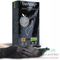 Купить перчатки одноразовые нитриловые m 100 шт/уп черные 1/10 в Москве