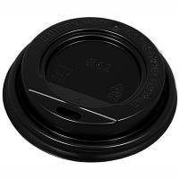 Купить крышка для стакана d62 мм с открытым питейником ps черная 1/100/1000 в Москве