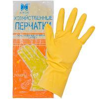 Купить перчатки хозяйственные l латекс цвет в ассортименте 1/12/240 в Москве
