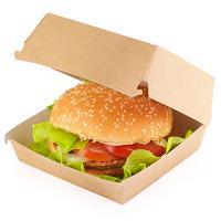 """Купить упаковка для гамбургера дхшхв 120х120х60 мм крафт """"lz"""" 1/50/300 в Москве"""