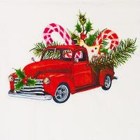 Купить салфетка бумажная 33х33 см 3 -сл 20 шт/уп рождественский автомобиль papstar 1/15 в Москве