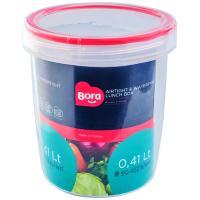 Купить контейнер круглый 0.41л н102хd90 мм полоса красная пластик bora 1/12 в Москве