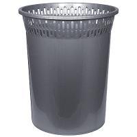 Купить корзина мусорная 8л н29хd245 мм пластик темно-серый bora 1/48 в Москве