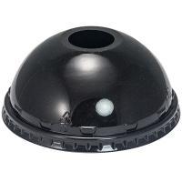 Купить крышка купольная d95 мм с отверстием для соломки pet черная vgo 1/100/800 в Москве