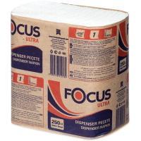 Купить салфетка бумажная 1-сл 250 шт/уп 240х265 мм для диспенсера focus ultra белая hayat 1/18 в Москве