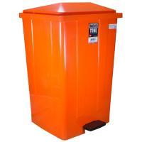 Купить бак мусорный прямоугольный 85л дхшхв 440х410х705 мм с педалью пластик оранжевый bora 1/3 в Москве