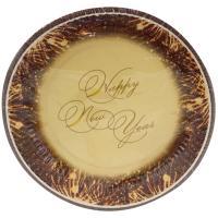 Купить тарелка бумажная d230 мм с дизайном happy new year papstar 1/50/500 в Москве