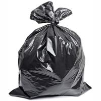 """Купить мешок (пакет) мусорный 180л 900х1100 мм 70 мкм 50шт/уп в пластах пвд черный """"т"""" 1/4 в Москве"""