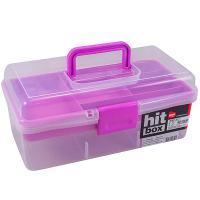 Купить контейнер для рукоделия дхшхв 330х180х140 мм вставка фиолетовая пластик bora 1/18 в Москве