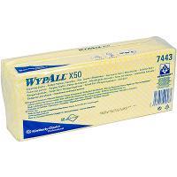 Купить материал нетканый в листах 1-сл 50 шт дхш 420х250 мм wypall x50 желтый kimberly-clark 1/6 в Москве