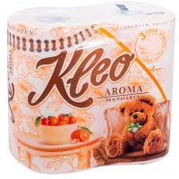 Купить бумага туалетная 3-сл 4 рул/уп kleo мандарин оранжевая сцбк 1/18 в Москве