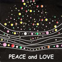Купить салфетка бумажная 33х33 см 3 -сл 20 шт/уп мир и любовь papstar 1/15 в Москве