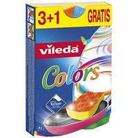 Купить губка для мытья посуды универсальная дхш 109х65 мм 4 шт/уп с разноцветным абразивом пур актив колорс поролон vileda 1/8 в Москве
