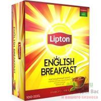 Чай черный пакетированный 100 шт/уп LIPTON ENGLISH BREAKFAST 1/1