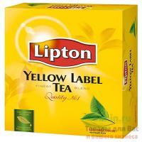 Чай черный пакетированный 100 шт/уп LIPTON YELLOW LABEL 1/9