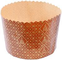 Купить форма бумажная кулич 500г н95хd134 мм хв круглая бумажная коричневая 1/1500 в Москве