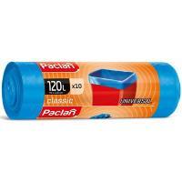 Купить мешок (пакет) мусорный 120л 700х1100 мм 20 мкм в рулоне пнд синий paclan 1/10/350 в Москве