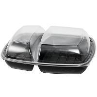 Купить контейнер для горячего 1300мл дхшхв 280х210х40 мм 2-секционный без крышки прямоугольный коричневый sabert 1/50/150 в Москве