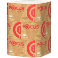 Купить полотенце бумажное листовое 2-сл 200 лист/уп 230х210 мм v-сложения focus premium белое hayat 1/15 в Москве