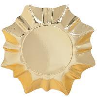 Купить тарелка бумажная d280 мм звезда картон золотистый papstar 1/3/60 в Москве
