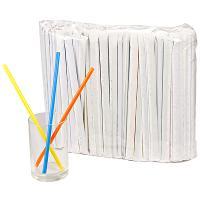 Купить соломка (трубочка) для коктейля н210хd7 мм 250 шт/уп в индивидуальной упак pp цветная 1/16 в Москве