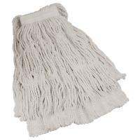 Купить насадка - моп (mop) для швабры веревочная прошитая kentucky 400 г хлопок/вискоза белая 1/1 в Москве