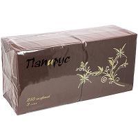 Купить салфетка бумажная коричневая 33х33 см 3-слойные 250 шт/уп папирус 1/6 в Москве