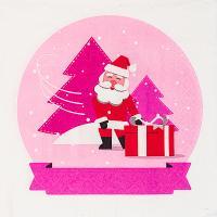 Купить салфетка бумажная 33х33 см 3 -сл 20 шт/уп снежный шар papstar 1/15 в Москве