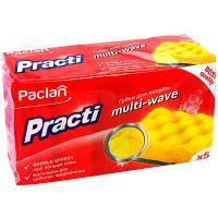 Купить губка для мытья посуды универсальная дхш 95х65 мм 5 шт/уп с зеленым абразивом multi-wave поролон paclan 1/40 в Москве