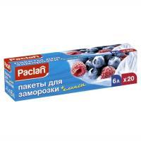 Купить пакет 6л дхш 300х460 мм 20 шт/уп для замораживания пвд paclan 1/16 в Москве