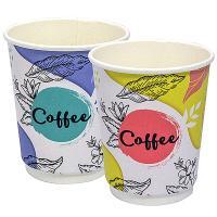 Купить стакан бумажный 250мл d80 мм 2-сл для горячих напитков coffee pastel pps 1/20/500 в Москве