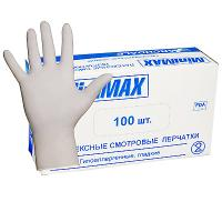 Купить перчатки одноразовые латексные s 100 шт/уп опудренные белые 1/10 в Москве