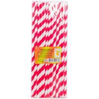 Купить соломка (трубочка) для коктейля н230хd6 мм 25 шт/уп полоса красная/белая бумага 1/40 в Москве