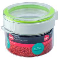 Купить контейнер круглый 0.35л н40хd92 мм полоса салатовая пластик bora 1/12 в Москве