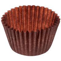 Купить капсула бумажная (тарталетка) круглая н24хd30 мм коричневая 1/2000/20000 в Москве