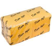 Купить салфетка бумажная желтая 24х24 см 1-сл 400 шт/уп папирус 1/18 в Москве